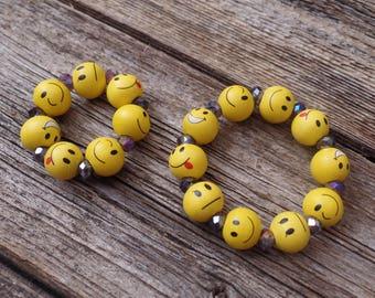Doll and Me Emoji Bracelet Set