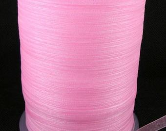 10 m 6 mm wide pink organza Ribbon