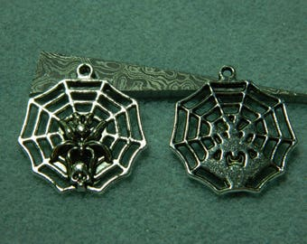 1 canvas 30 * 32 mm metal spider charm