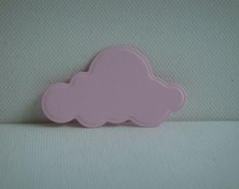 Découpe nuage en papier dessin rose dragée pour scrapbooking et carte
