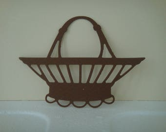 Cut Brown basket of 7 cm for scrapbooking and card