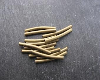Bronze tube beads 19 mm * 2 mm in packs of 15