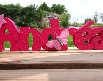 Name puzzle wood 3D personalized children