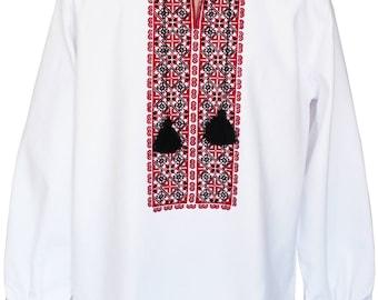 """Vyshyvanka for Men Embroidered Shirt With Ethnic Ukrainian Ornaments Folk Sorochka Vyshyvana """"National"""" All Sizes"""