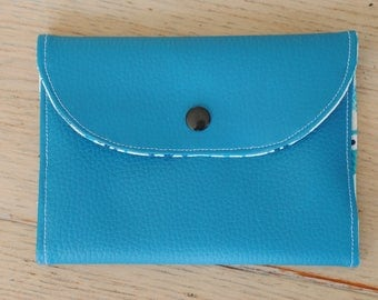 Blue vegan leather and nugget bars pouches