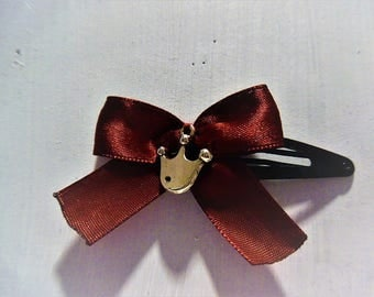 Bow and Crown hair clip
