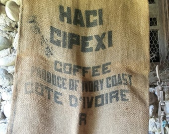 Direct from the attic. Burlap bag