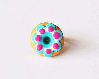 Cake donuts polymer clay ring