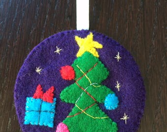 Christmas hand stitched felt ball