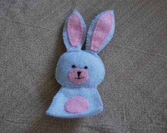 felt finger puppet animals rabbit