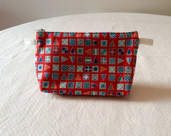 Cotton lined, nautical style clutch