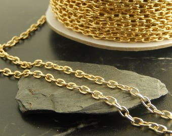 1 meter of gold chains