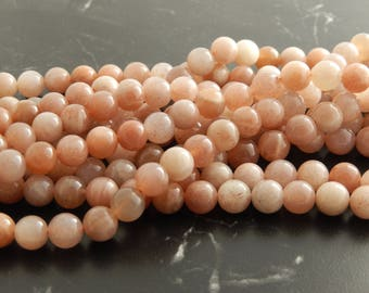 10 pearls 8mm natural Moonstone