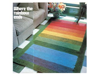 Rainbow Rug Afghan Crochet Pattern