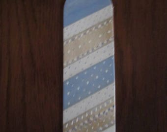 Bookmark made of old blue and White Birch wood