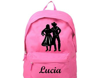 Backpack pink Country personalized with name
