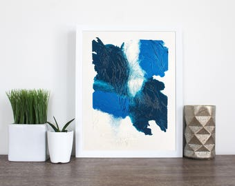 blue abstract painting, abstraktes blaues Bild, Acryl by nbr_art