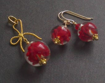 Set of red and gold - swirls Passion