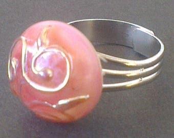 Ring murano glass bead