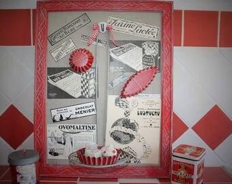 Frame home decor vintage themed kitchen