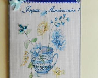 greeting card. Lovely birthday girl card. Handmade, handcrafted