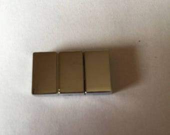 rectangular silver plated clasp