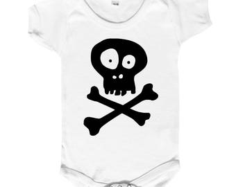 "Bodysuit funny baby, created for the fly-away(rebel) babies ""death's-head"""