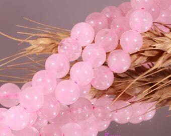 20 rose quartz beads 8 mm round