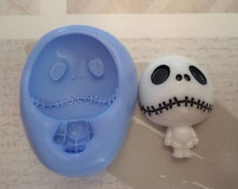 "Mold flexible silicone ""Skeleton jack about 3cm"""