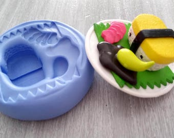 Plate 5cm sushi mold for polymer clay resin porcelain