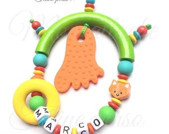 "Special teething rattle personalized ~ model ""Marco"""