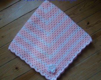Cover bucket 60 cm x 60 cm, pink white baby bassinet pram