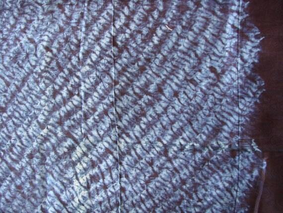 Exceptionnel coupon 100 coton teinture indigo du mali 9287 Teinture tissu coton