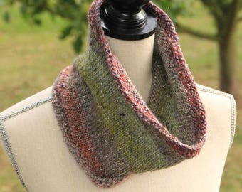 Snood, cowl neck knitted wool Adriafil