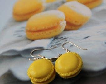 """Pair of earrings """"Macaroon lemon"""""""
