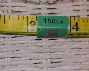 1 meter length 150cm neon yellow stitching