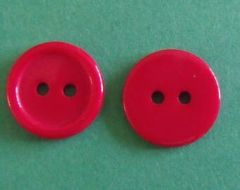 set of 2boutons acrylic 15mm in diameter assorted colors