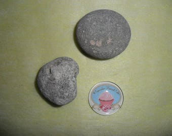 glass cabochon illustrated vintage cupcake pink round 30 mm