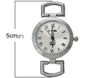 Round watch silver metal size 5.0 CMS x 3.0 cm