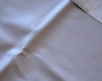 Fabric faux leather gray Pearl 45 * 50cms