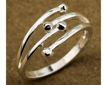 Fine ring in 925 Silver - size 51