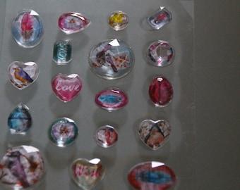DIAMONDS scrapbooking stickers