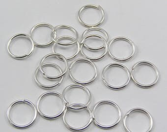 Set of 50 jump rings 10 mm silver