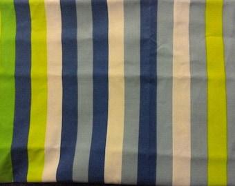 Grand coupon de tissus à rayures aux tons acidulés (coton) pour des créations de couture à prix discount