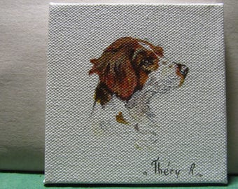 Brittany Spaniel hunting dog miniature