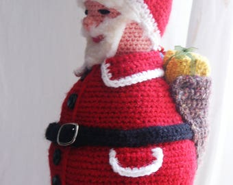 collection Christmas Santa Claus with his hood crochet
