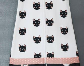Sleeping bag second age fleece pattern cats