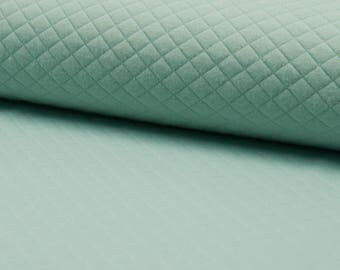 Quilted Jersey / DUSTY MINT / cut 25cm
