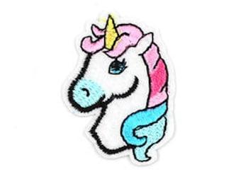 MINI Unicorn fusible embroidered badge