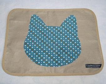 Set of table linen, cat theme